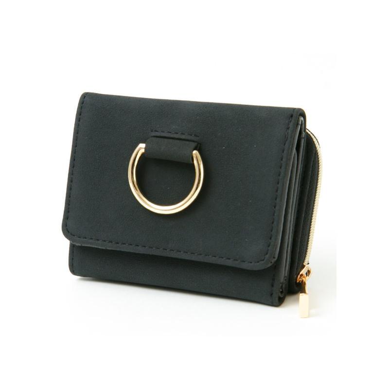 【レターパック対象】ゴールドリング三つ折り財布
