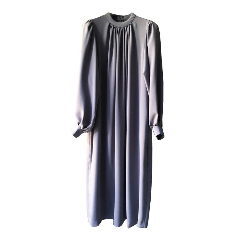 Graphpaper Satin Puff Sleeve Dress