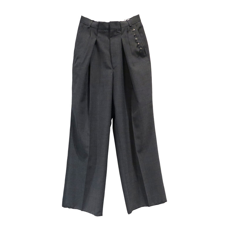 Kidole.  STUDS WIDE TROUSERS