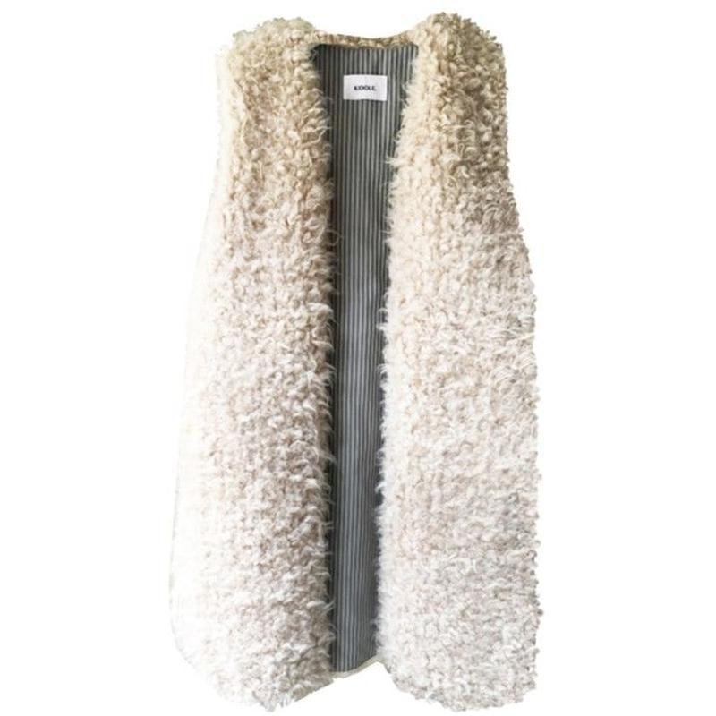 KIDOLE. ECO FUR LONG GILET