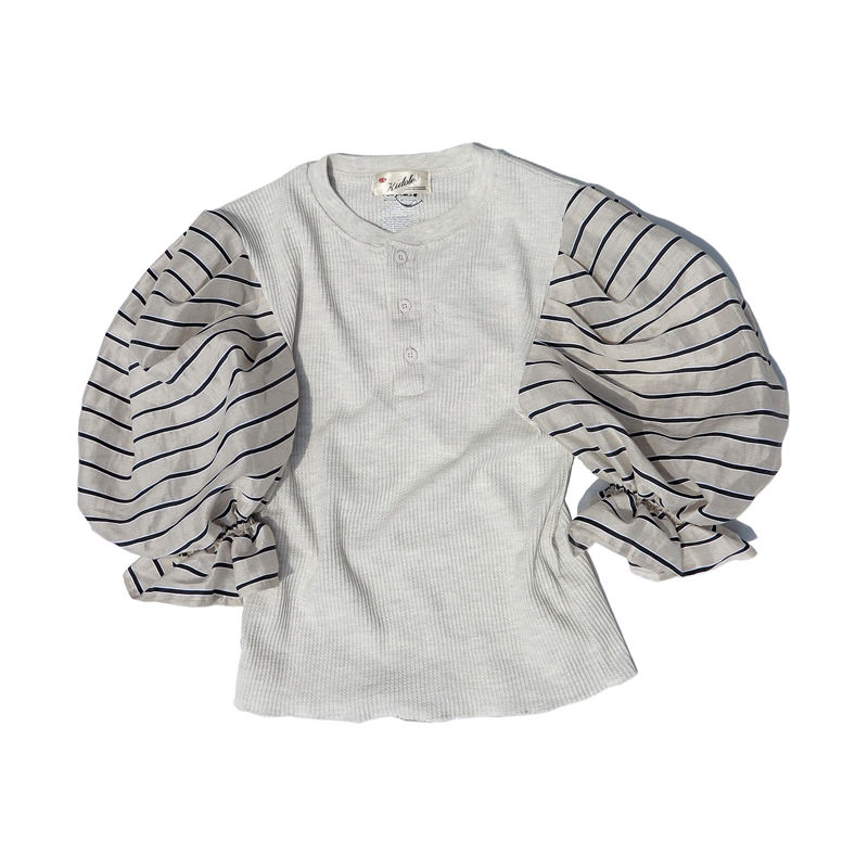 Kidole. Tuck Sleeve  Henly Neck Thermal Top