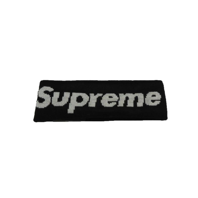 Supreme New Era Big Logo Headband (Black)
