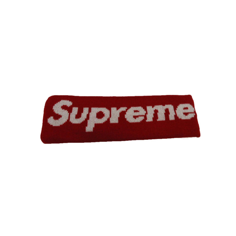 Supreme New Era Big Logo Headband (Red)