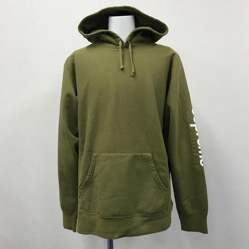 Used Supreme Sleeve Patch Hooded Sweatshirt
