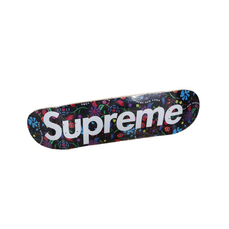 Supreme Airbrushed Floral Skateboard Black