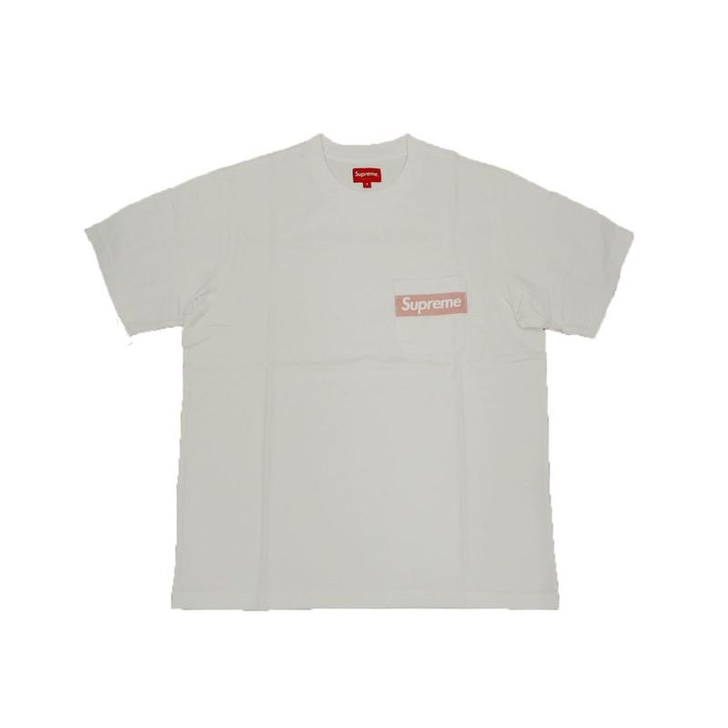 Supreme Mesh Stripe Pocket Tee White