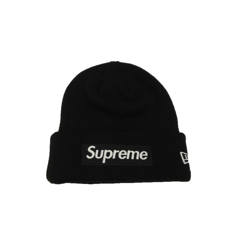 Spreme New Era Box Logo Beanie (Black)
