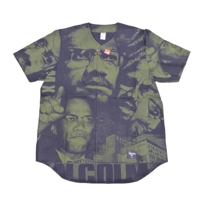 Supreme Malcolm X Baseball Shirt