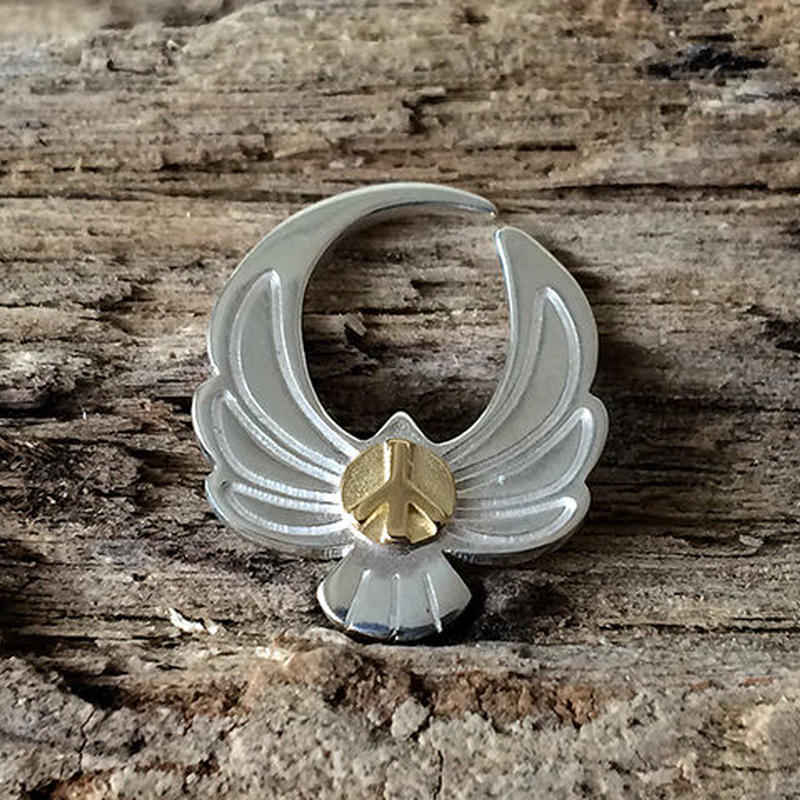 Eagle Pierce Silver Base(Silver & Gold)