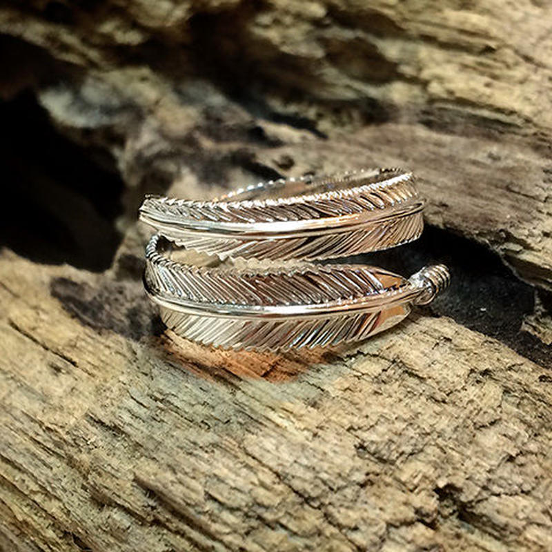 Feather Ring Silver