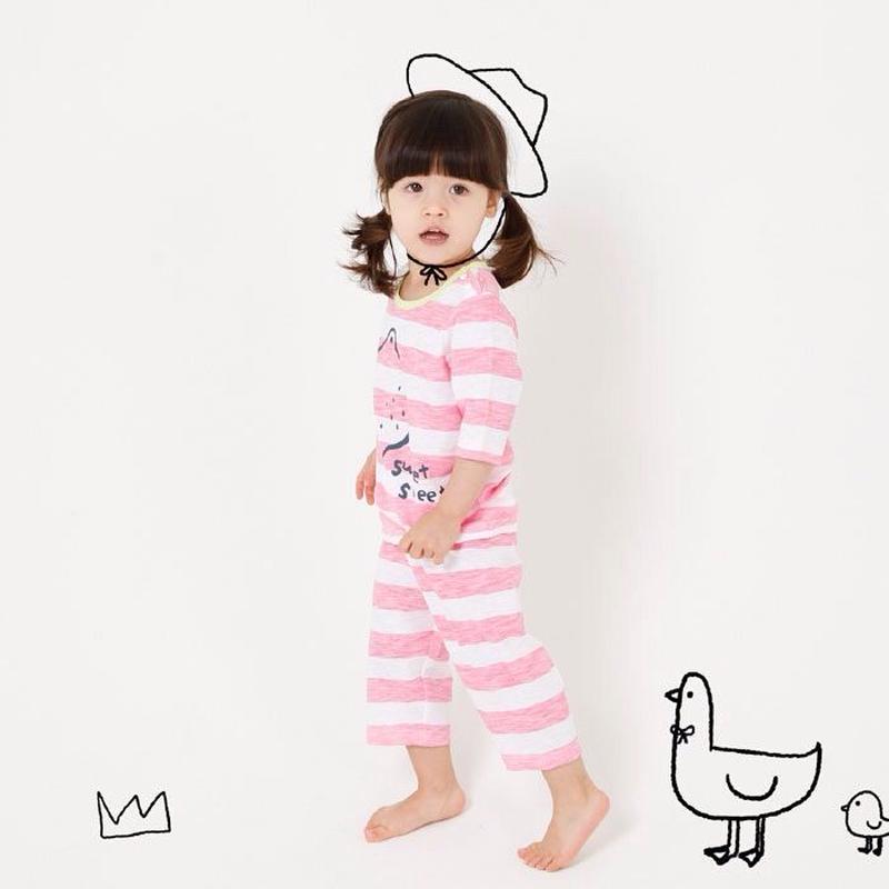 ピンクボーダーパジャマ