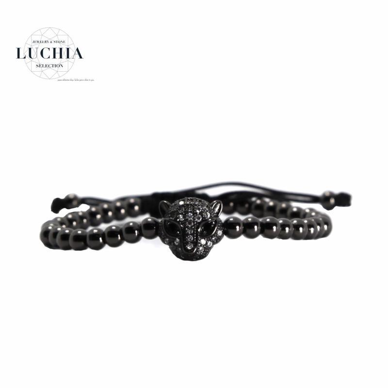 Handmade woven bracelet  type 14 black