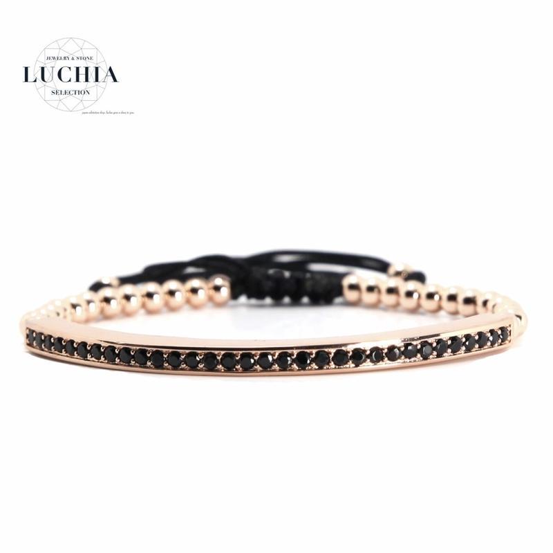 Handmade woven bracelet  type 76 rose gold