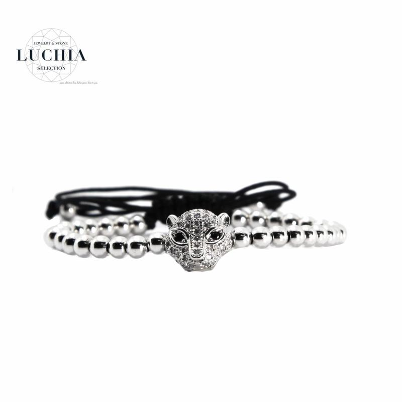 Handmade woven bracelet  type 14 silver