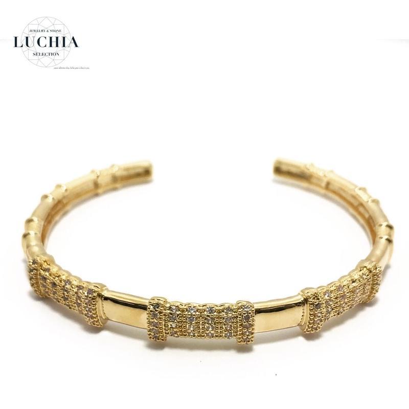 Handmade woven bracelet  type 46 gold