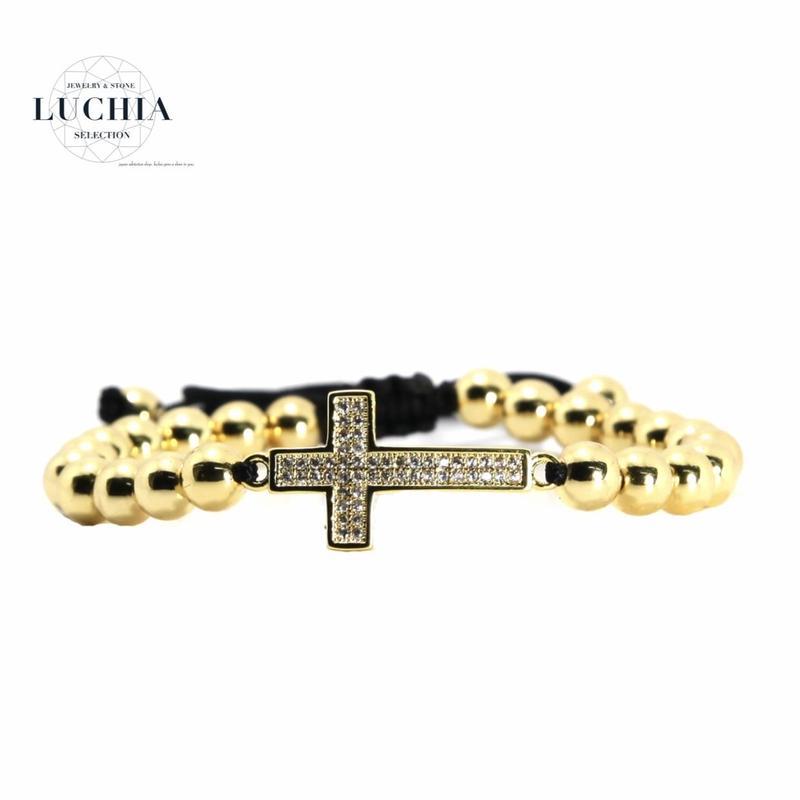 Handmade woven bracelet  type 54 gold
