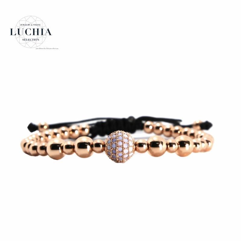 Handmade woven bracelet  type 16 rose gold