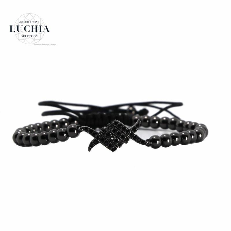 Handmade woven bracelet  type 1a black