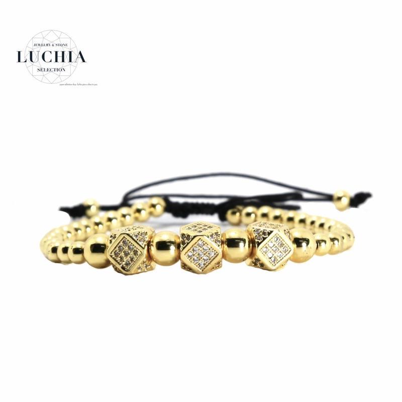 Handmade woven bracelet  type 93 gold