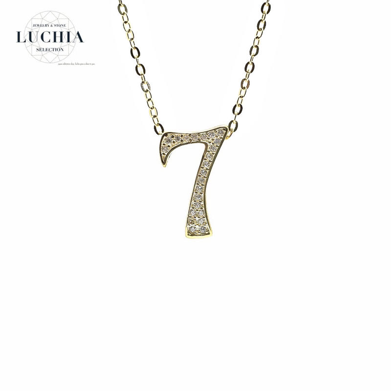 luxury series number necklace  No.7