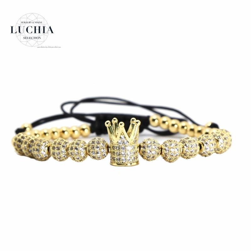 Handmade woven bracelet  type 87 gold