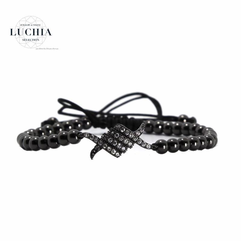 Handmade woven bracelet  type 1 black