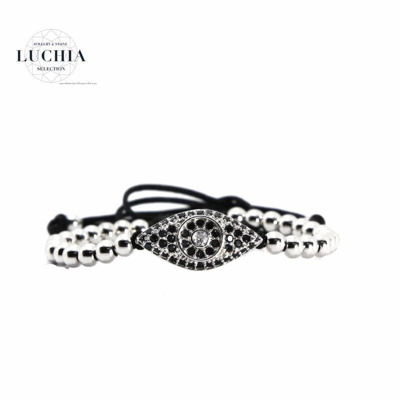 Handmade woven bracelet  type 2 silver
