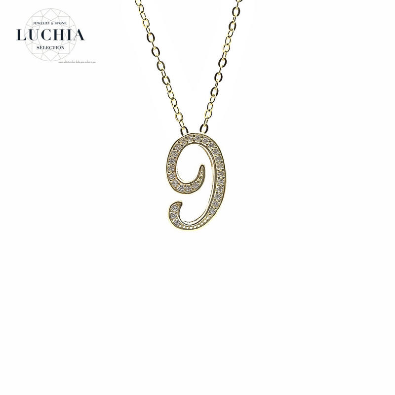 luxury series number necklace  No.9