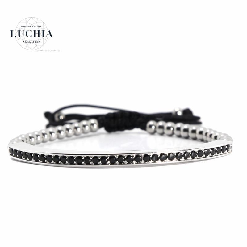Handmade woven bracelet  type 76 silver