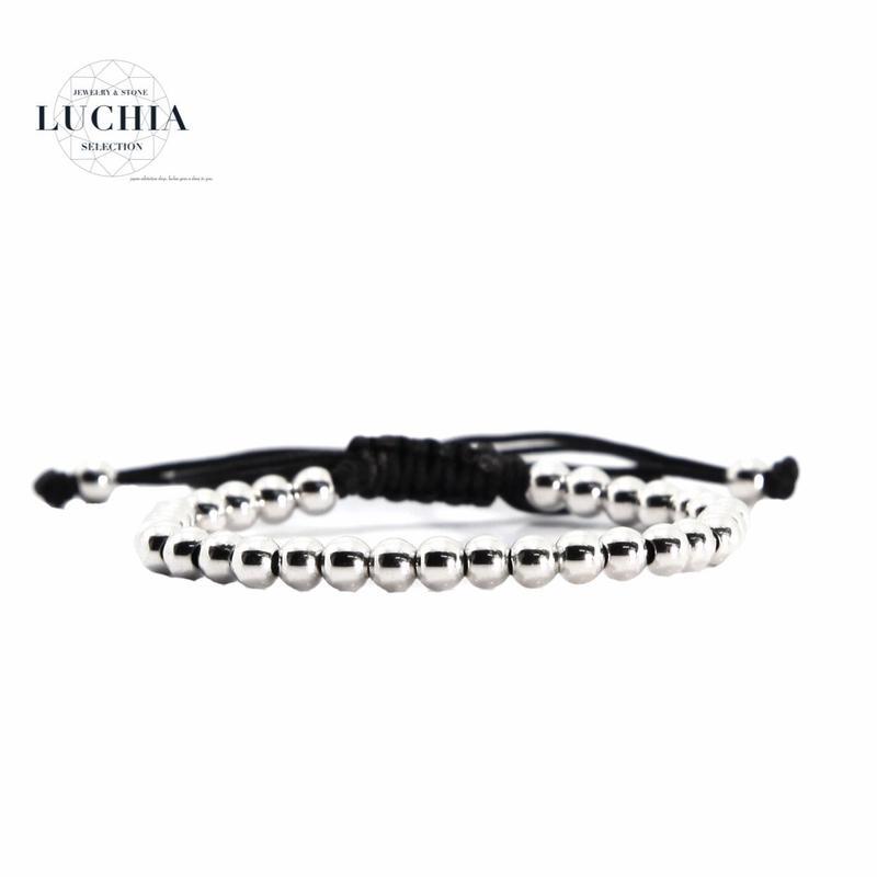 Handmade woven bracelet  type 4 silver