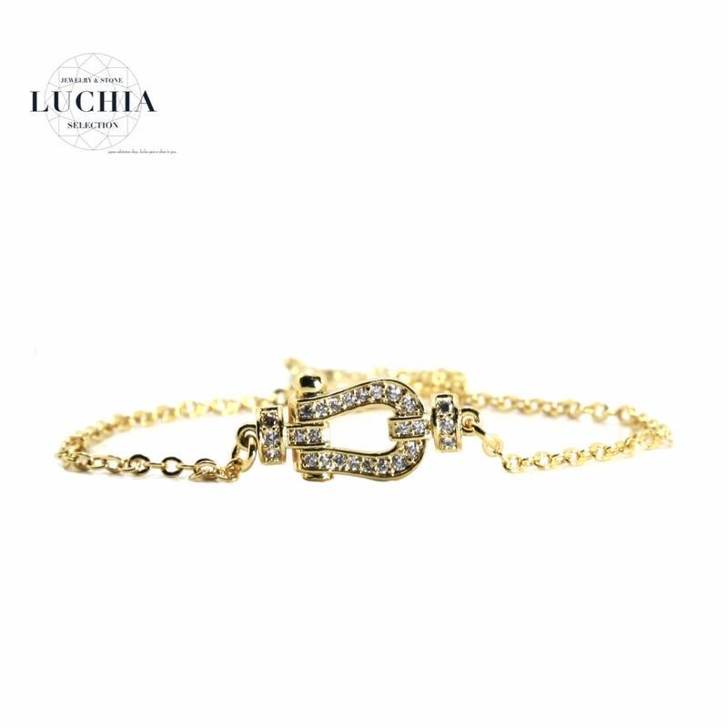 Handmade woven bracelet  type 86 gold