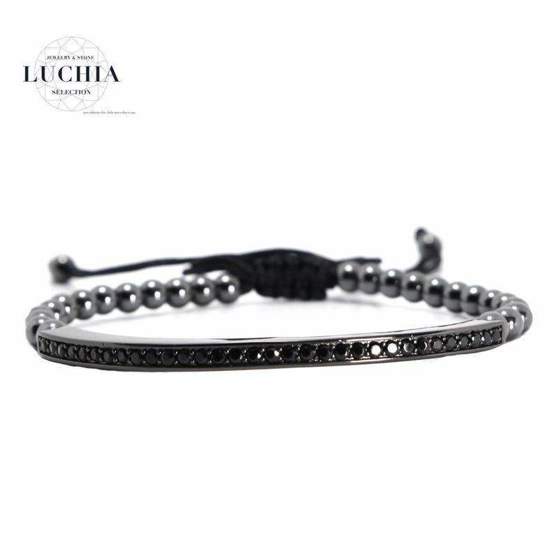 Handmade woven bracelet  type 76 black