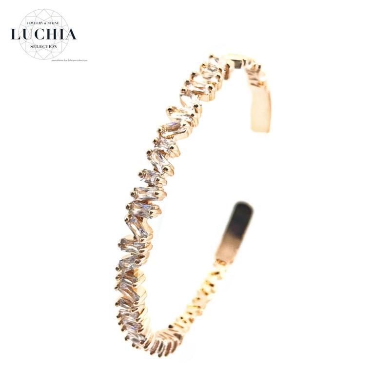Handmade woven bracelet  type 47 rose gold
