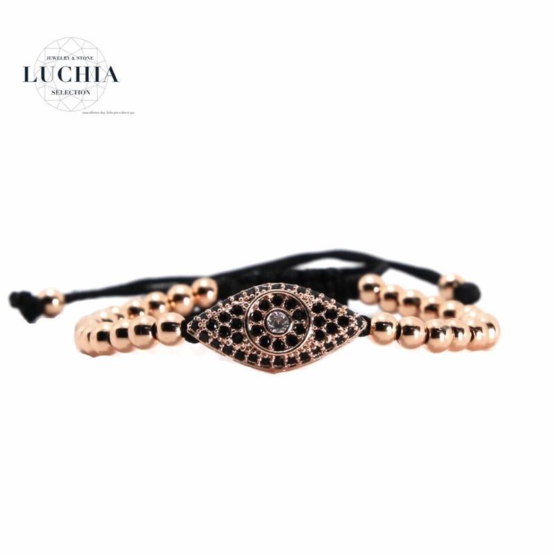 Handmade woven bracelet  type 2 rose gold