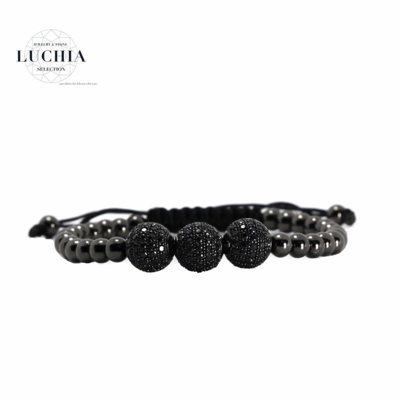 Handmade woven bracelet  type 5 black