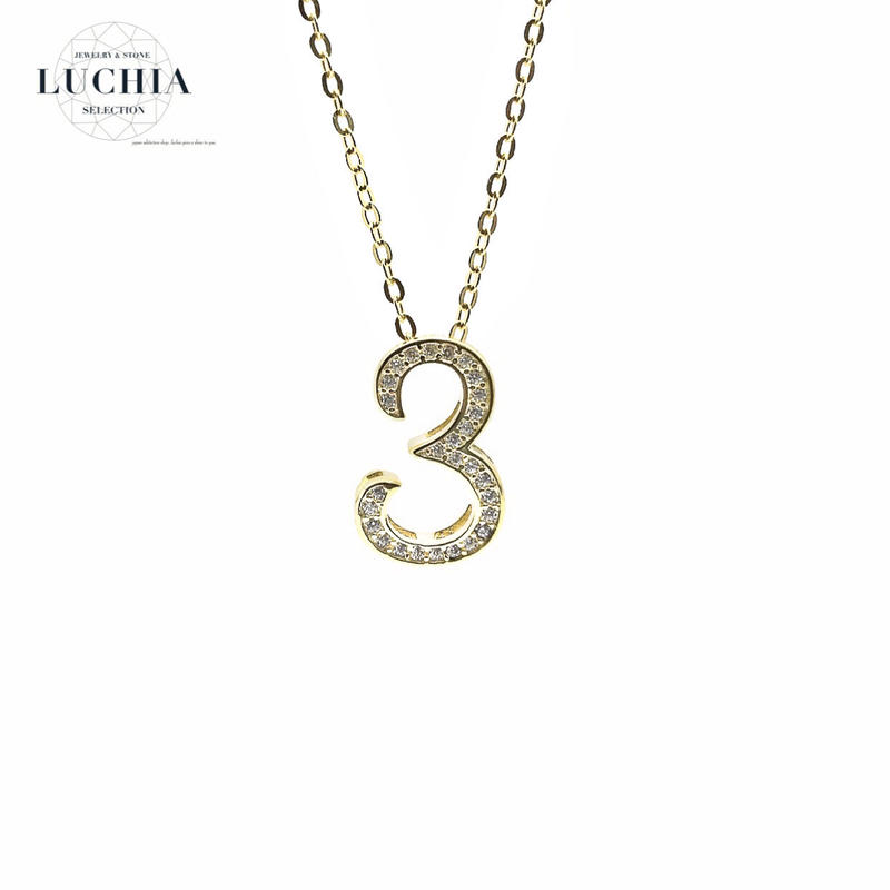 luxury series number necklace  No.3