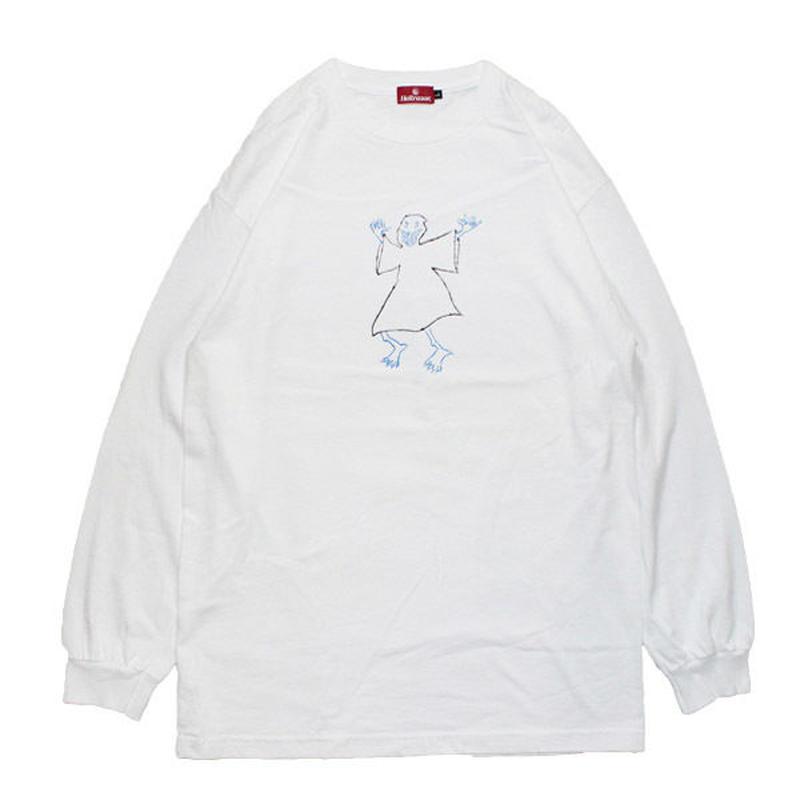 HELLRAZOR【 ヘルレイザー】x Shawn Powers Ghost Long Sleeve Shirt White ロンT ホワイト