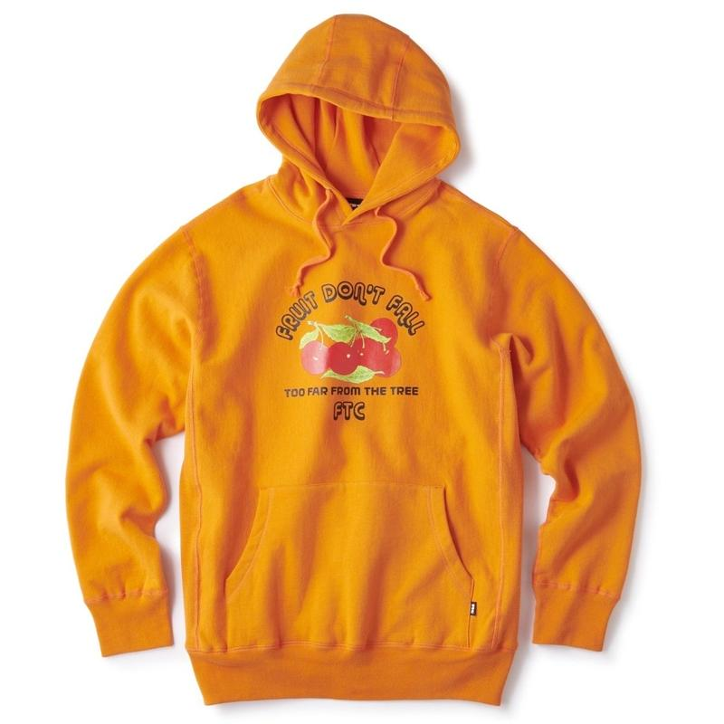 FTC【 エフティーシー】FRUIT DON' T FALL PULLOVER HOODY パーカー オレンジ