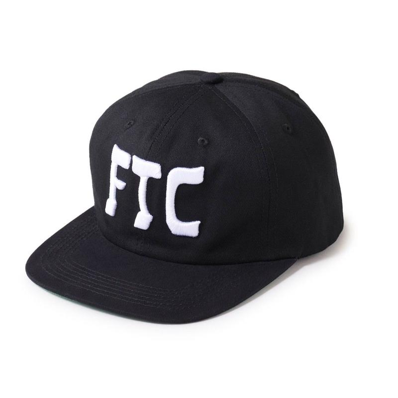 FTC【 エフティーシー】HASSAN 6 PANEL CAP BLACK キャップ ブラック