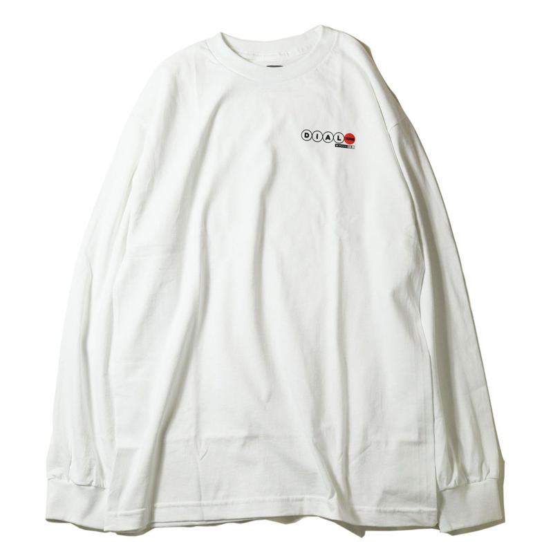 DIAL TONE【 ダイヤルトーン】Dial Tone Wheel Co Lucky Numbers L/S Tee  WHITE ロンT ホワイト