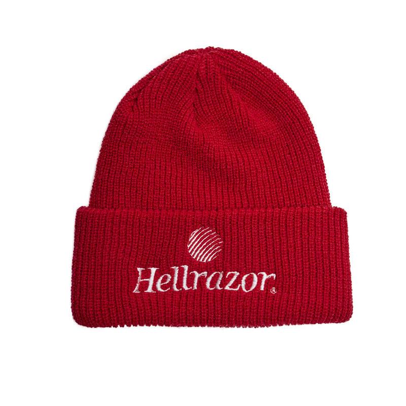 HELLRAZOR【 ヘルレイザー】TRADEMARK LOGO WATCH CAP  ワッチキャップ 帽子 レッド