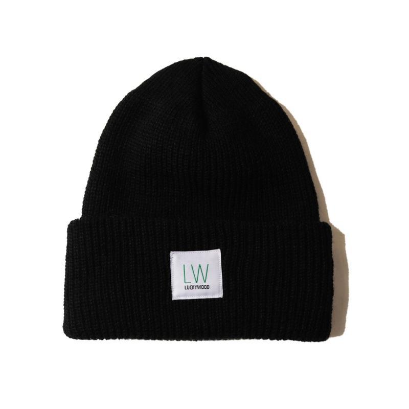 LUCKYWOOD【 ラッキーウッド】LOGO CAP BLACK ロゴ キャップ ブラック
