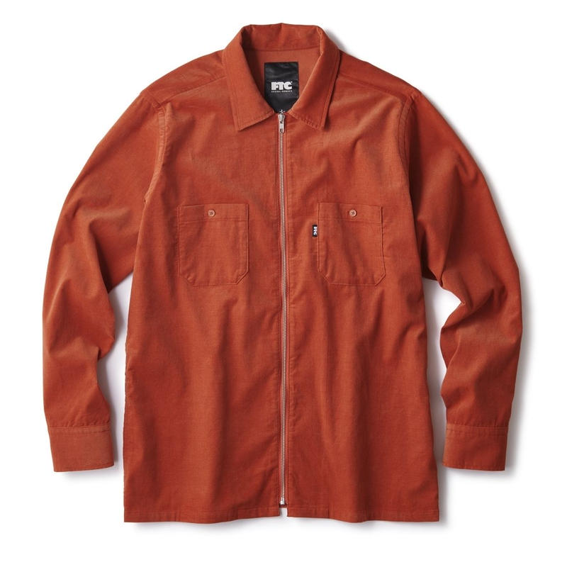 FTC【 エフティーシー】CORDUROY ZIP UP SHIRT ORANGE ジップアップシャツ オレンジ