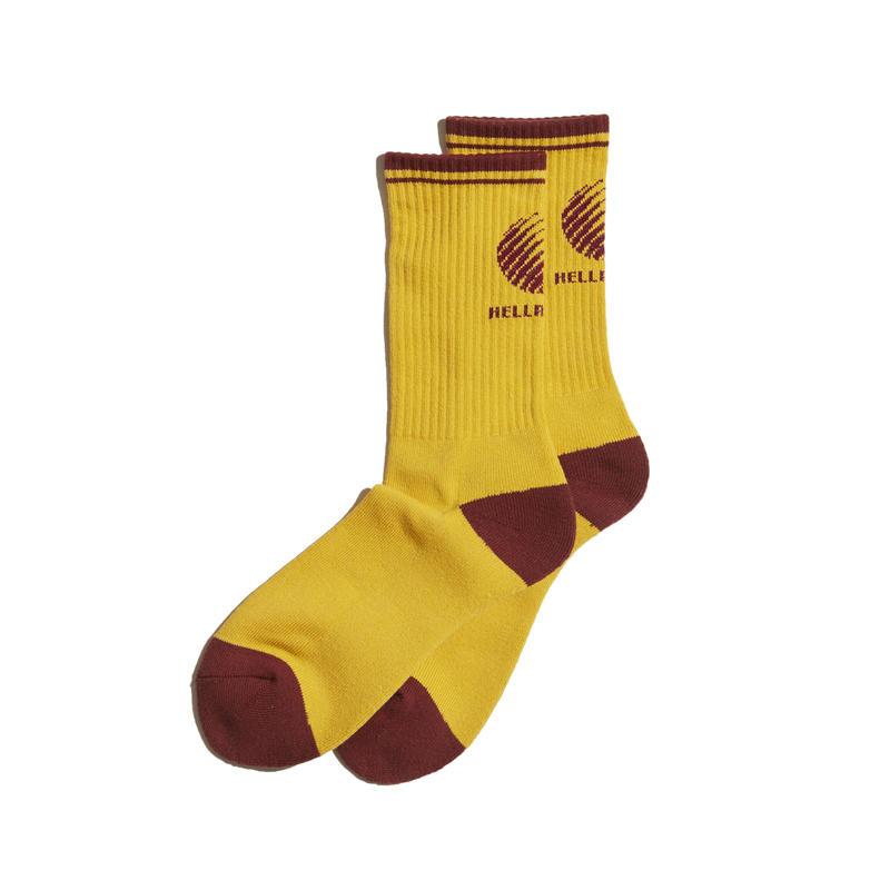 HELLRAZOR【 ヘルレイザー】Logo Sox - Mustard ソックス マスタード
