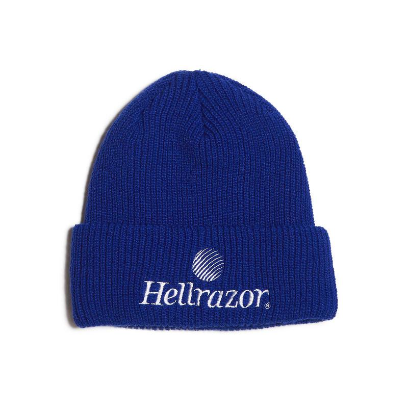 HELLRAZOR【 ヘルレイザー】TRADEMARK LOGO WATCH CAP ROYAL ニット帽 ロイヤル
