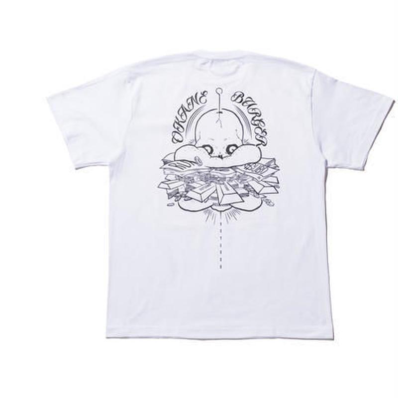 坩堝【 るつぼ】MONEY BURGER S/S TEE  Tシャツ ホワイト