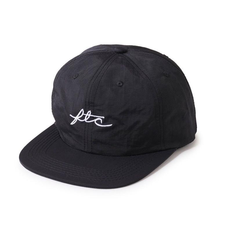 FTC【 エフティーシー】NYLON VIVA LOGO 6 PANEL BLACK キャップ ブラック