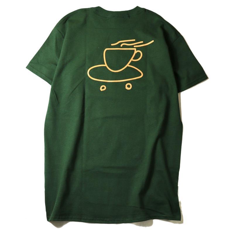 LUCKYWOOD【 ラッキーウッド】DENVER COFFEE TEE FOREST  コーヒー Tシャツ フォレストグリーン