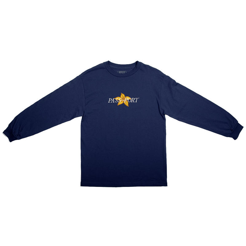 PASS~PORT【 パスポート】DAFFODIL APPLIQUE L/S TEE NAVY ロンT  ネイビー