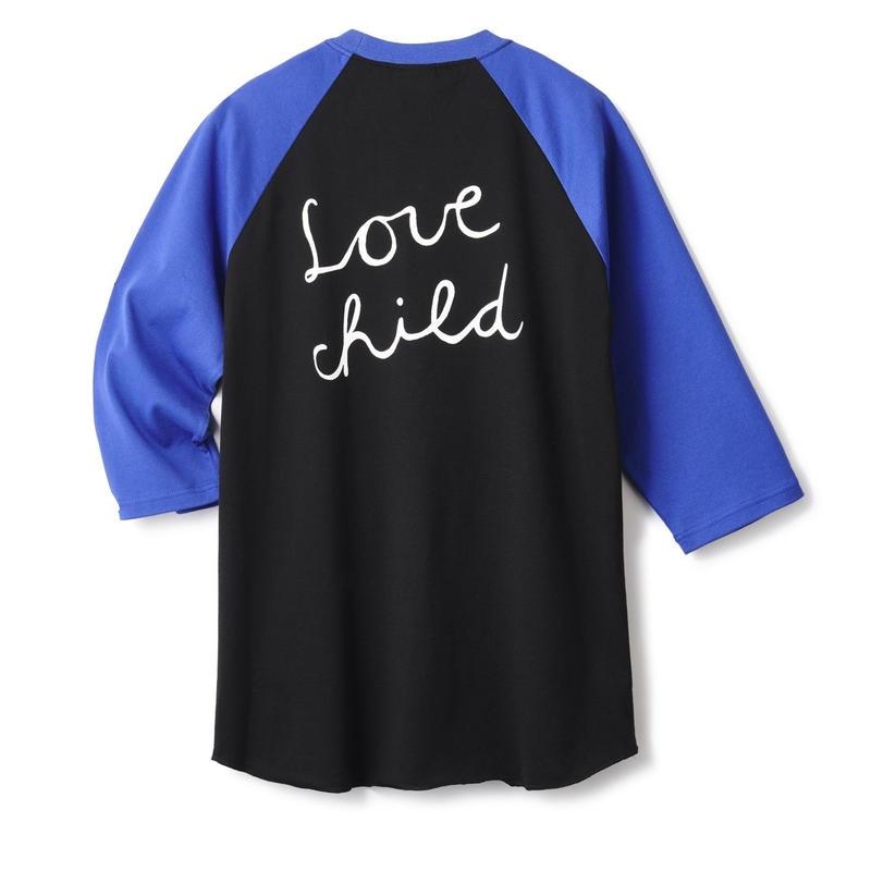 FTC【 エフティーシー】LOVE CHILD 7/S RAGLAN BLACK BLUE ラグラン ブラック ブルー
